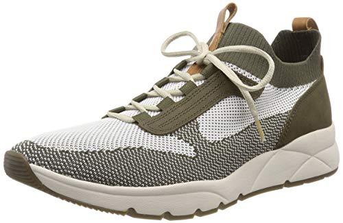 camel active Herren Run 12 Sneaker, Grün (Off-White/Olive 2), 43 EU