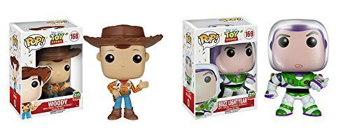Toy Story 20th Anniversary Woody and Buzz Lightyear Pop! Vinyl Figures Set of 2 by Toy Story