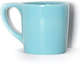 notNeutral LINO 10 oz Porcelain Coffee Mug - Ozone Blue | Single Mug | Ergonomic | Unique Coffee Mug | For Use at Home and Coffee Shops