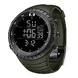 Mens Watches,SKMEI Waterproof Military Outdoor Sport Watch Men Fashion LED Digital Electronic Black Alarm Clock,Wrist Watches for Men Women