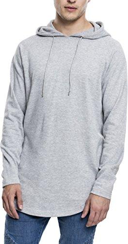 Urban Classics Long Shaped Terry Hoody Sweatshirt Capuche, Gris, M Homme