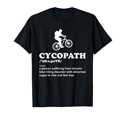 Funny Cycopath Cool Cycling & Mountain Bike Cyclist Graphic T-Shirt
