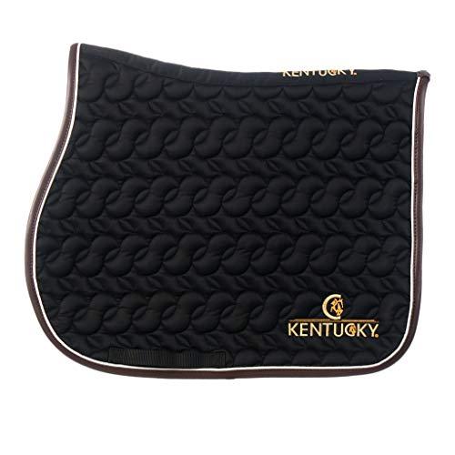 Kentucky Horsewear Tapis de selle absorbant avec logo Kentucky, couleur : noir.