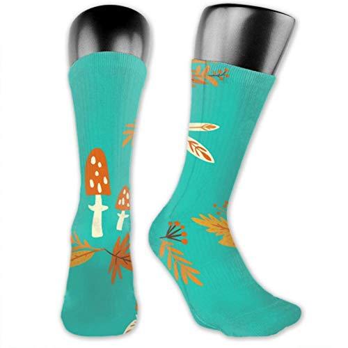 JONINOT 2 paquetes de calcetines deportivos ligeros y cómodos de 40CM, novedad, divertidas hojas de otoño, medias largas medianas