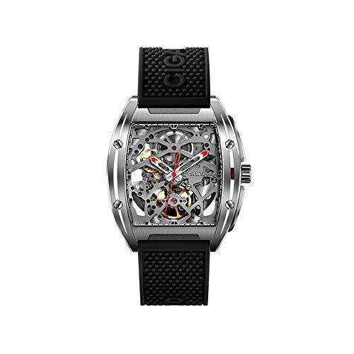 Reloj mecánico para hombre de diseño hueco de doble cara de la serie CIGA Z negro