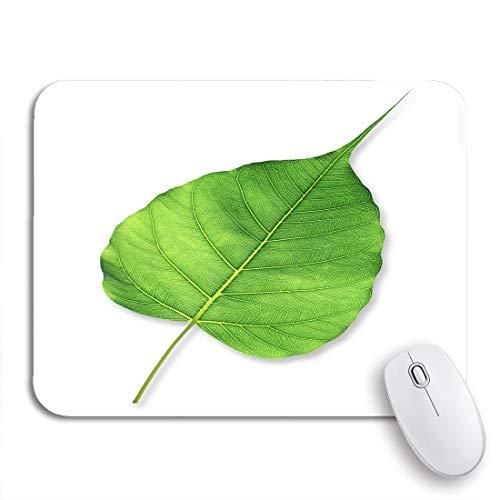 N\A Alfombrilla de ratón para Juegos peepal Green Bodhi Leaf Tree Autumn Beauty Botanical Botany Nonslip Rubber Backing Computer Mousepad para Cuadernos Alfombrillas de ratón