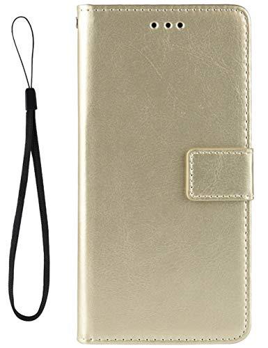 Croazhi Klapphülle Kompatibel mit LG V60 ThinQ 5G Hülle Leder Flip Hülle Handyhülle Schutzhülle Handytasche Magnetisch Kickstand Wallet Tasche Motiv Original für L G V60 ThinQ 5G Handy - Golden