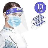 Ameky Face Shield 10PCS- Plastic...