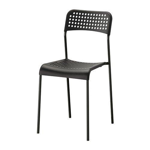 Ikea ADDE Stuhl in Schwarz; stapelbar
