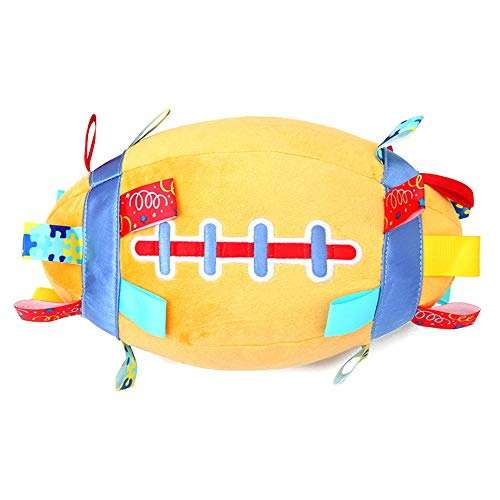 Baby Bälle Softball Bell-Kind-Säuglingsspielzeug Baby-Hand Grasp-Ball Baby-Handball-Plüsch-Spielzeug-Baby-Lernen Spielzeug zu klettern Babykugeln Sensorische ( Farbe : Orange , Size : One size )