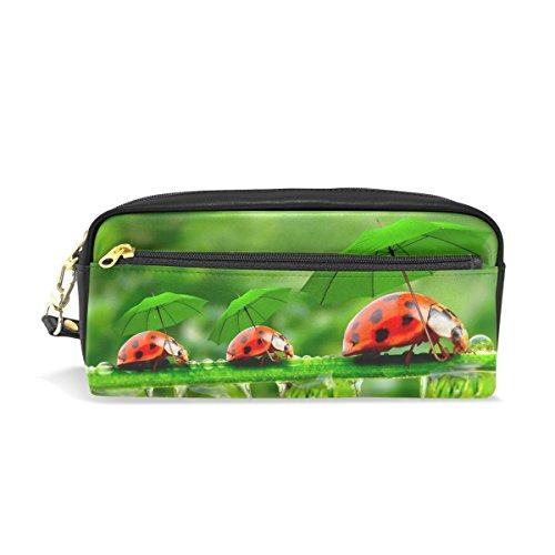 Eslifey Funny Ladybugs paraguas verde portátil bolsa