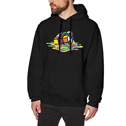 Melting Cube Classic Big Bang Sheldon Rubik Men's Pullover Hoodie Sweater Sweatshirt Casual Shirt Long Sleeve 3D Sportswear BlackM