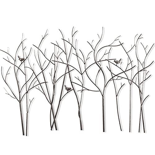 Nordic creatieve vogels Metalen wand Kunstdecor, handgemaakte smeedijzeren wanddecoratie, moderne metalen wanddecoratie voor thuis voor woonkamer, slaapkamer, kantoorhotel