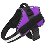 Bolux Dog Harness, No-Pull Reflective Dog Vest, Breathable Adjustable Pet Harness with Handle for Outdoor Walking - No More Pulling, Tugging or Choking ( Purple, S )