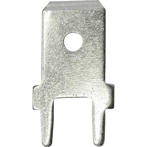 Vogt Verbindungstechnik 3866A.68 Steckzunge Steckbreite: 6.3 mm Steckdicke: 0.8 mm 180 ° Unisoliert Metall 100 St.