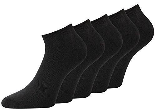 Sneakersocken schwarz Herren Sneaker Socken schwarz Baumwolle Gr 47-50 10 Paar schwarz