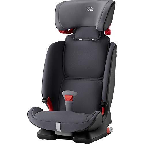 Britax Römer Kindersitz 9 Monate - 12 Jahre I 9 - 36 kg I ADVANSAFIX IV M Autositz Isofix Gruppe 1/2/3 I Storm Grey