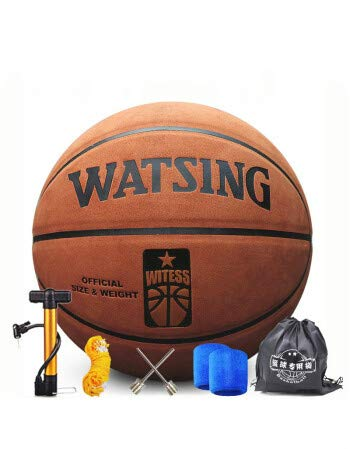 Balón de baloncesto de piel gruesa universal con tacto azul.