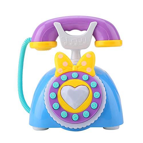 Giocattolo di telefono di musica Bilingue Analogico sviluppo di istruzione di bambino finge di giocattoli blu