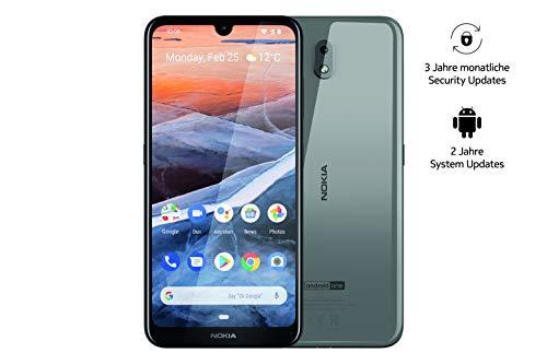 Nokia 3.2 - Smartphone Dual SIM, Prodotto Tedesco (15,9 cm (6,26 pollici), Fotocamera principale 13 MP, 2 GB RAM, 16 GB di memoria interna, Android 9 Pie, Acciaio