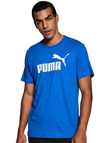 PUMA Puma Herren T-Shirt Essentials Tee – Casual Baumwoll-Shirt mit geripptem Rundhals-Kragen und Puma-Logo Essentials Tee Puma Royal XS