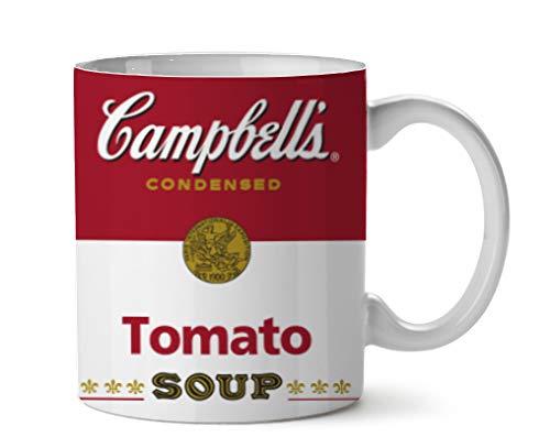 Silver Buffalo Campells Brand Tomato Soup Ceramic Mug, 14-ounces, Red/White