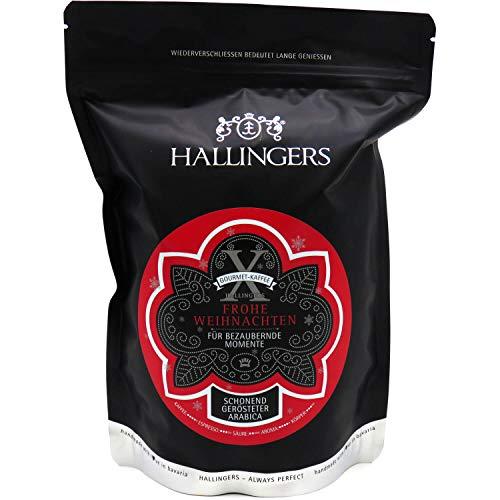 Hallingers Gourmet-Kaffee, schonend langzeit-geröstet (500g) - No. X Frohe Weihnachten (Aromabeutel) - zu Weihnachten