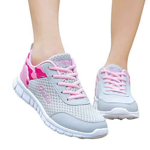 Damen Herren Laufschuhe Sportschuhe Leicht Sneakers Atmungsaktive Turnschuhe Schnürer