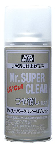 Mr. Super Clear UV Cut Flat Spray