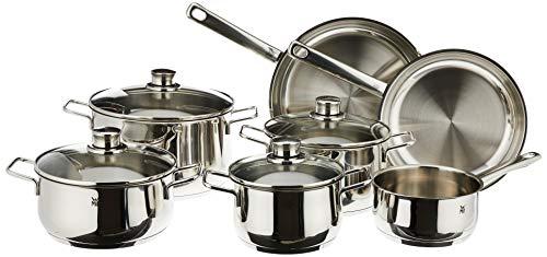 WMF - Batería de cocina, color plateado, Diadema de 11 piezas, Plateado, Nulo, 1
