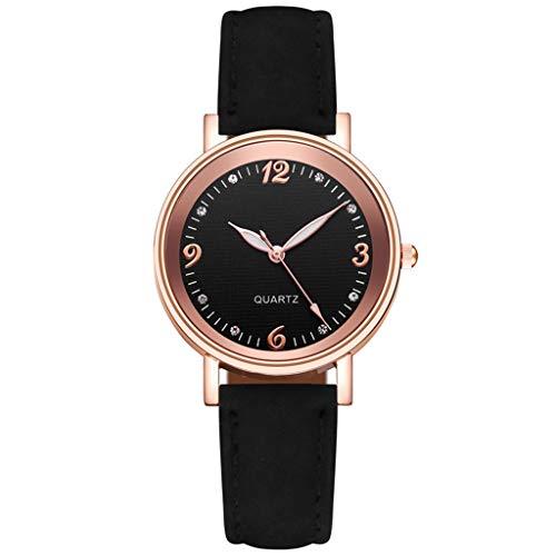 Fenverk Damen Analog Quarz Uhr Mit Lederarmband,Damenuhr,Uhren Damen,Uhr Gold,Kapten and Son Uhren,Warehouse Deal,Damenuhr Rosegold(C#01)