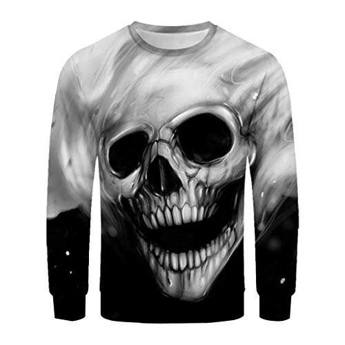 Buy Cheap Sweater for Men Pullover Lightweight, F_Gotal Unisex 3D Printed Skull Long Sleeve Hoodies ...