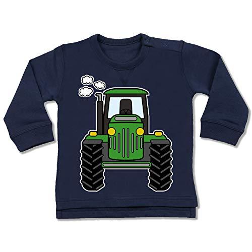 Shirtracer Fahrzeuge Baby - Traktor Front - 12/18 Monate - Navy Blau - Kinder Oberteile für Jungen - BZ31 - Baby Pullover