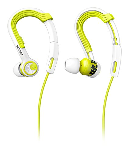 Philips SHQ3400LF/00 ActionFit Ohrbügel Sportkopfhörer (Leicht, optimale Soundleistung) grün/weiß