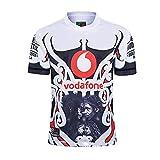 ZDVHM Copa del Mundo Rugby Jersey 2020 Warriors Rugby Jersey Uniforme Manga Corta 100% Tela de poliéster Deportes Casual Fitness Training Camiseta Camisa de fútbol para Fans Regalo de cumpleaños