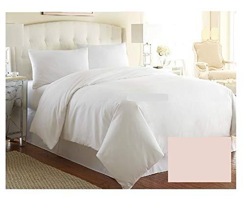 Funda de edredón de lujo para cama de matrimonio, color liso, calidad de hotel, más de 20 colores (beige)