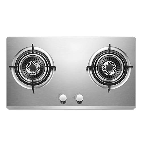 Affordable Kitchen Liquefied Petroleum Gas/Natural Gas Stove, 2 Stainless Steel Burner, and an Ignit...