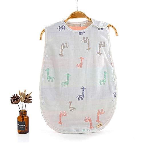 Baby Grobag Wickeldecke 100% Bio-Baumwolle 2,5 Tog Wearable Giraffe Grafik Lustige Sommer Baby Schlafsack 6-18 Monate