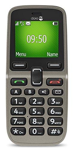 Doro 5030 GSM Mobiltelefon (Großes beleuchtetes Farbdisplay, Schriftgröße der Bildschirmanzeige einstellbar) champagner
