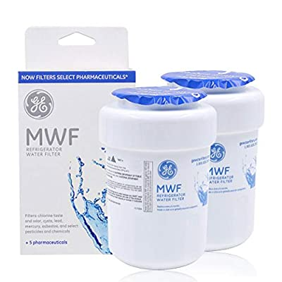 GE MWF Refrigerator Water Filter Replacement for MWF, MWFA, MWFP, GWF, GWFA?White ?Pack of 2?