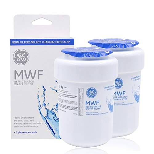 GE MWF Refrigerator Water Filter Replacement for MWF, MWFA, MWFP, GWF, GWFA,White (Pack of 2)