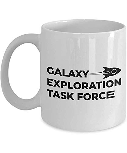 Astronauta Taza de café Galaxy Exploration Task Force Astronomía Astrónomo Vía Láctea Galaxy Cohete Espacio Tierra Luna Estrella Planeta