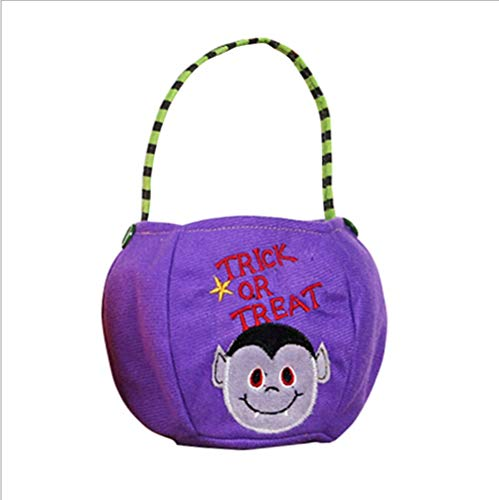 Halloween Foldable Pumpkin Black Cat White Ghost Witch Basket Candy Gift Basket Treat Or Bag (Color : White ghost basket)