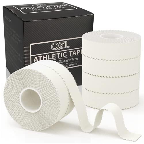 Tapeverband Finger - QZL Sporttape - Leukotape - Sport Bandagen - Tape Strapping - Reißen von Hand - für Klettern, BJJ Jiu-Jitsu, Grappling, MMA, Crossfit, Bouldern, und Kampfsport - 6 Rollen