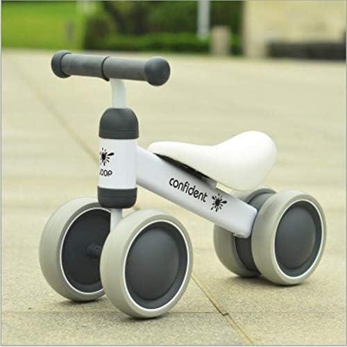 Babybalance fürrad, Mini-fürrad Kind Walker Spielzeug fürrad ohne Pedal Outdoor Indoor-füren Spielzeug 1-3 Jahre alt Junge und mädchen,1003Weiß