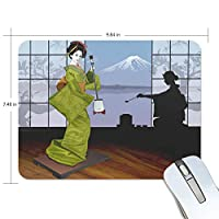 Jiemeil マウスパッド 高級感 おしゃれ 滑り止め PC かっこいい かわいい プレゼント ラップトップ などに 日本 文化 和服 楽器