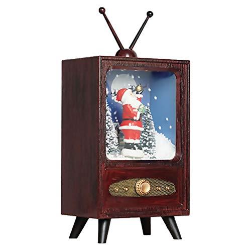 ABOOFAN Adornos Navideños de Televisión Santa Claus TV Figura Juguetes Musical Nieve Globo Niños Decoraciones Navideñas GIFS Navidad Suministros para Fiestas Navideñas