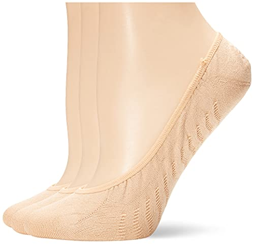 Sperry Women's Micro No Show 3 Pack Liner Socks, Brush, Shoe Size: 5-10