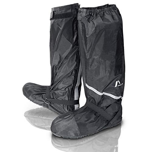 Amazy Regen Überschuhe + Gratis-Aufbewahrungsbeutel (Größe 40/41 | hoch) – wasserdichte und rutschfeste Schuhüberzieher mit Reflektoren für trockene, saubere Schuhe auch bei Regen, Schnee oder Staub