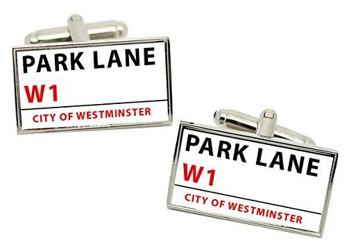 Giftshop UK Parque Lane Letrero Calle Rectángulo Gemelos en Caja